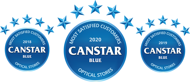 Canstar Blue Winner - Optical Stores 2018, 2019, 2020